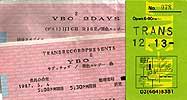 YBO2 チケット